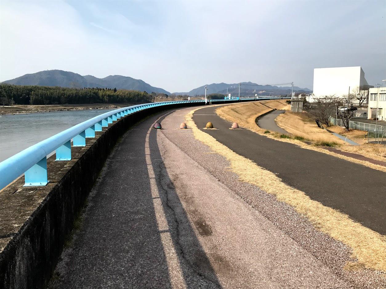 木曽川右岸堤防ジョギングコース