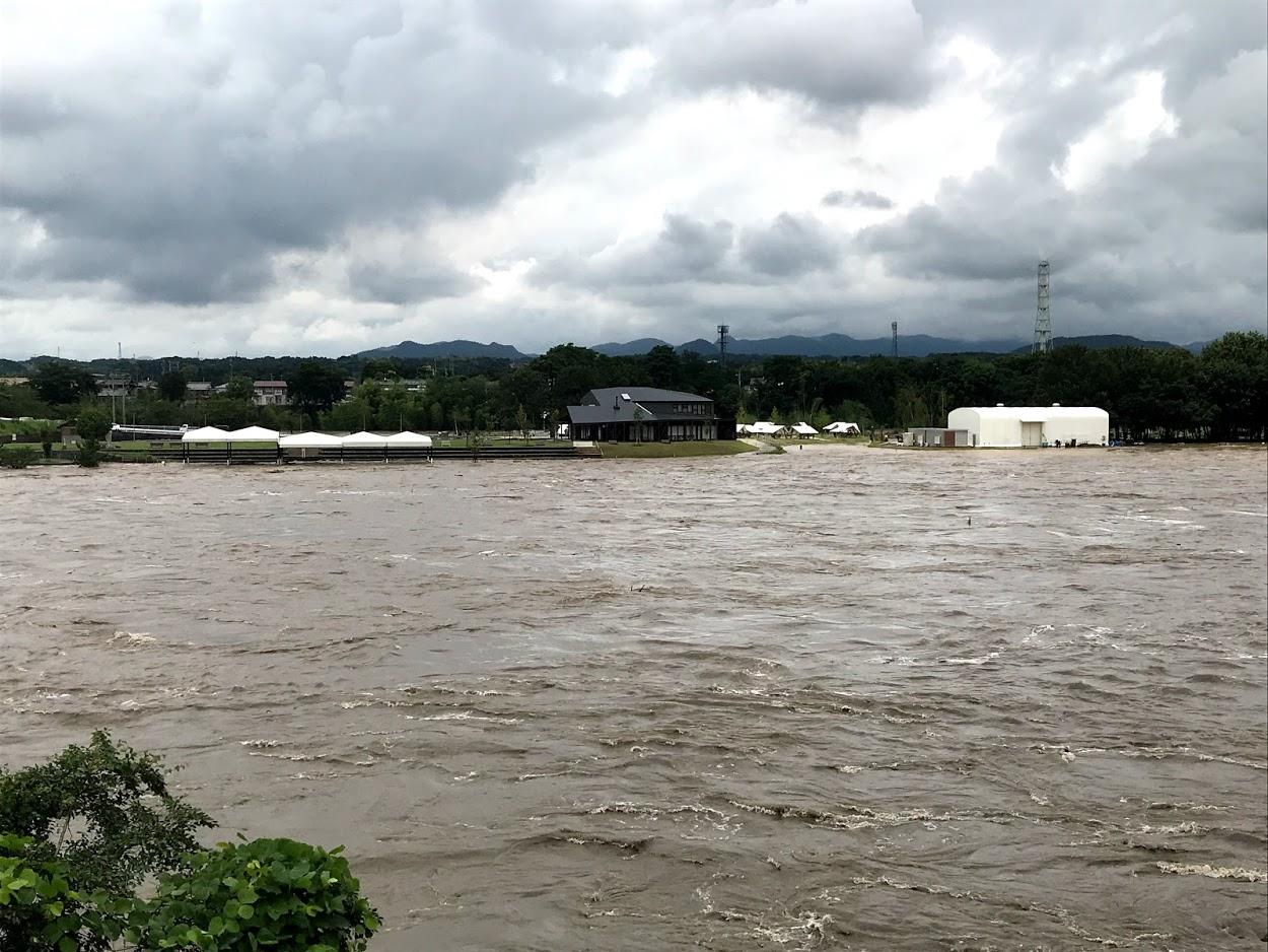 木曽川 豪雨増水 今渡から